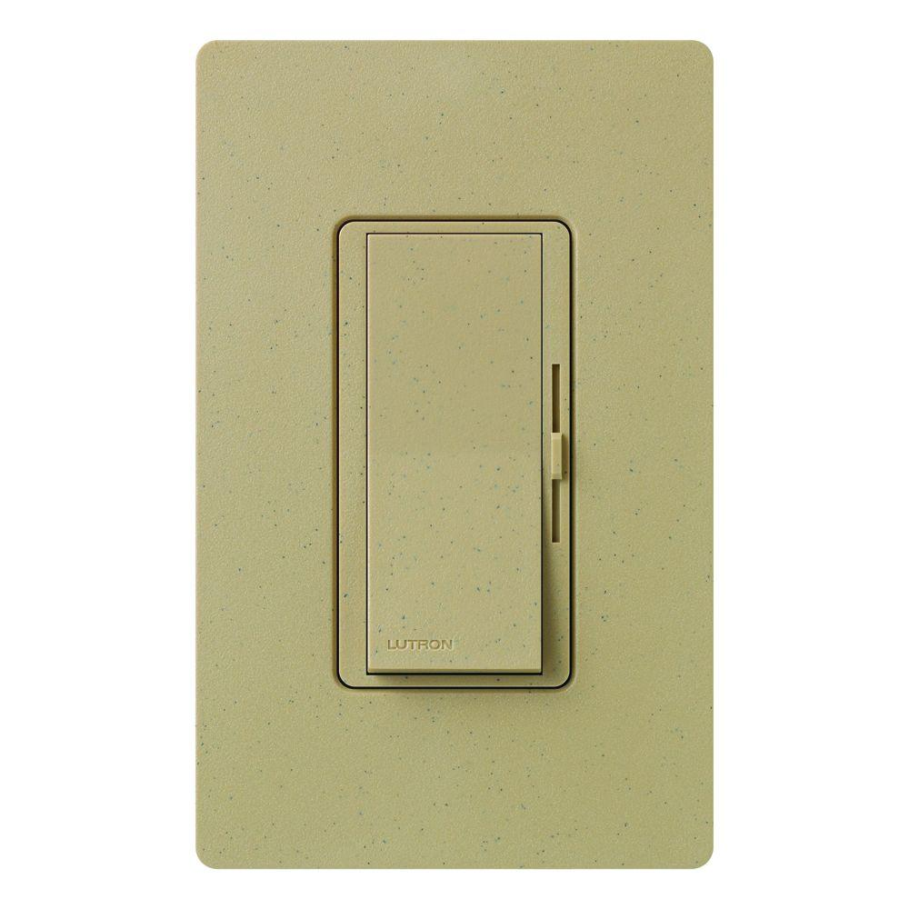 Diva Dimmer for Incandescent and Halogen, 600-Watt, Single-Pole, Mocha Stone