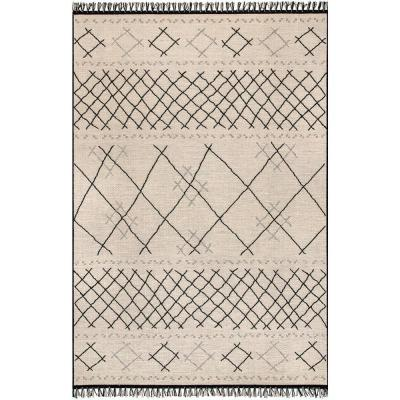 Denise Modern Moroccan Ivory 5 ft. x 8 ft.  Indoor/Outdoor Area Rug