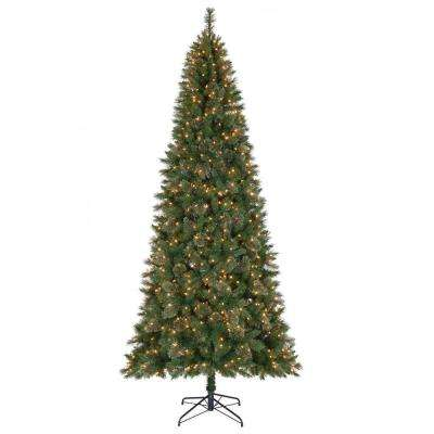 10 ft. Juniper Spruce Quick-Set Artificial Christmas Tree with 900 Clear Lights