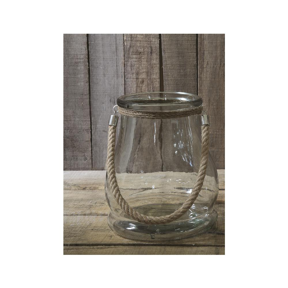 Riverside Clear Glass Candle Holder