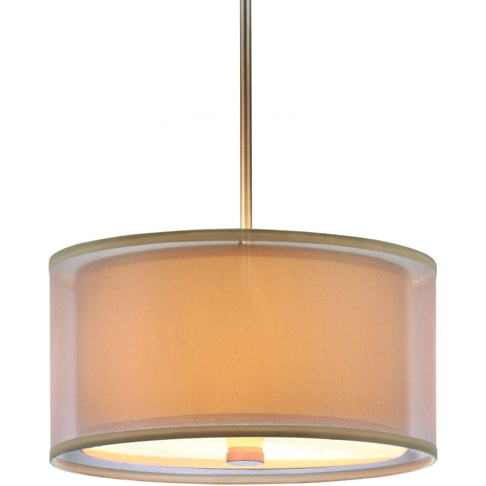 Sea Gull Lighting Jordyn Shade 3-Light Brushed Nickel Pendant