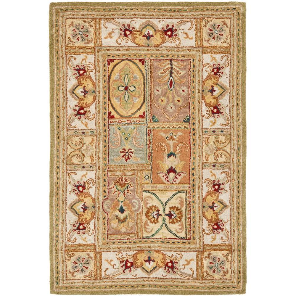 Classic Sage/Multi 3 ft. x 5 ft. Area Rug