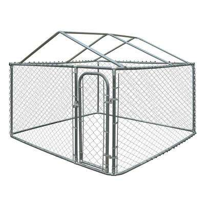6 ft. H x 7.5 ft. W x 7.5 ft. L Dog Kennel with Roof Frame