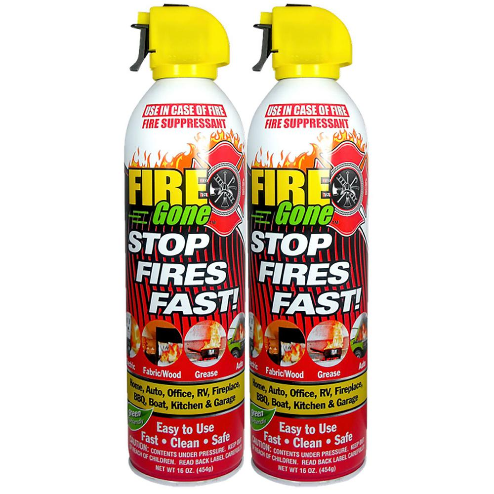 Fire Gone A:B:C Multiple Use Fire Extinguishing Spray Suppressant (2-Pack)