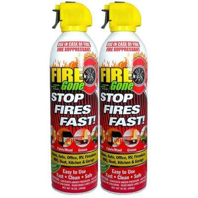 A:B:C Multiple Use Fire Extinguishing Spray Suppressant (2-Pack)