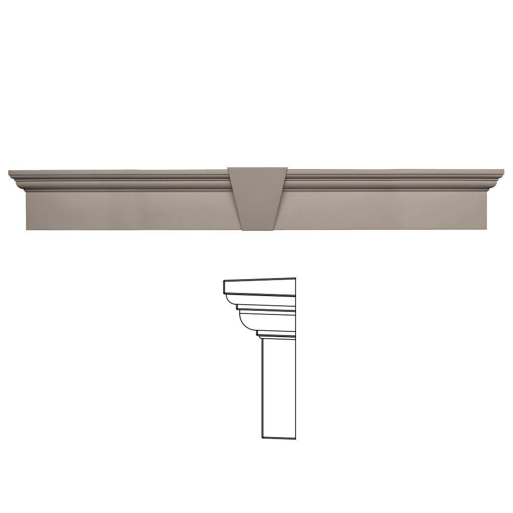 Builders Edge 9 in. x 65-5/8 in. Flat Panel Window Header with Keystone in 008 Clay