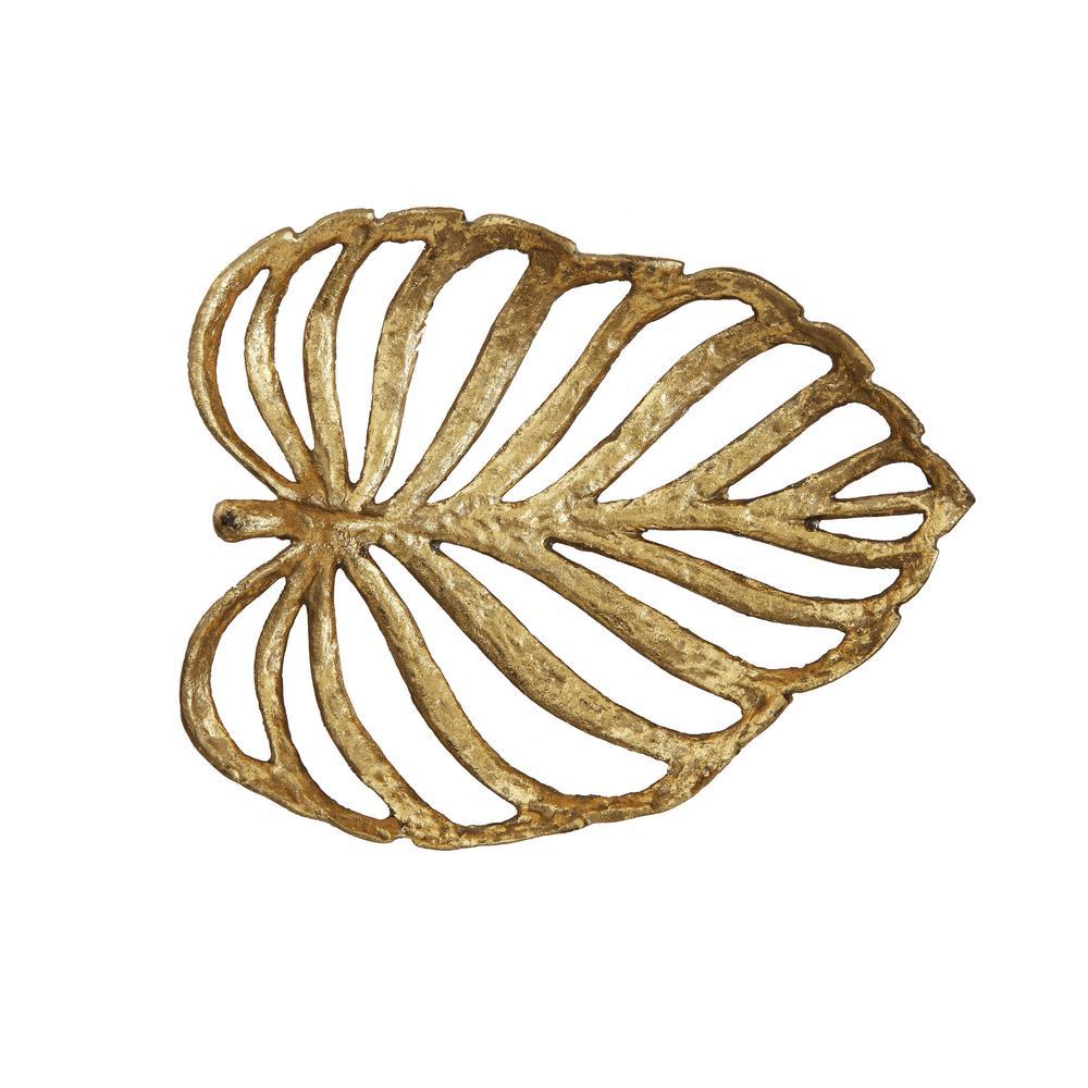 Gold Leaf Cast Iron Decorative Leaf
