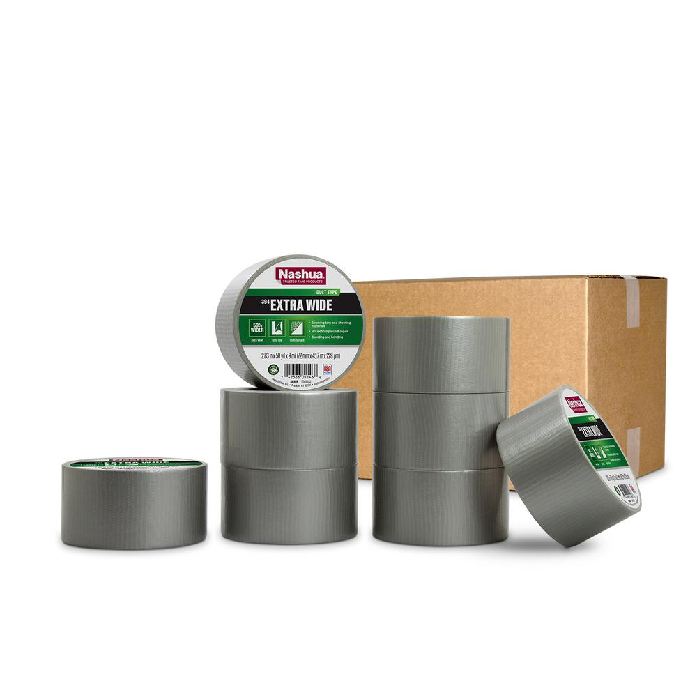 Nashua Tape 2.83 in. x 50 yd. 394 Extra Wide General Purpose Duct Tape in Silver Pro Pack (8-Pack)