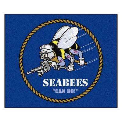 U.S. Navy - Seabees 5 ft. x 6 ft. Tailgater Mat Area Rug