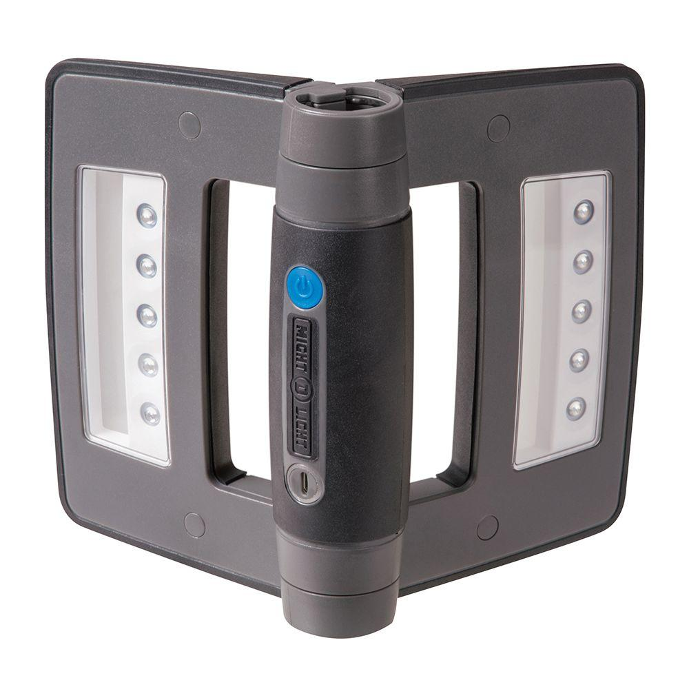 Mini Compact Folding Rechargeable LED Work Light, Metallic