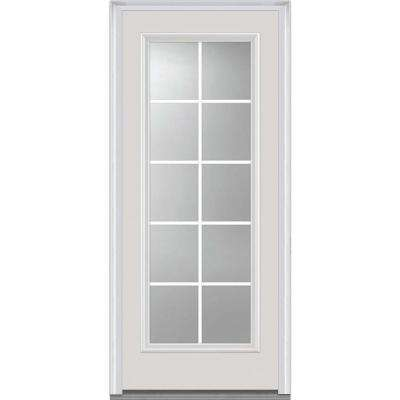 36 in x 80 in severe weather internal grilles right hand full lite - Home Depot Glass Door