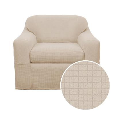 Reeves Stretch Natural 2-Piece Chair Slipcover