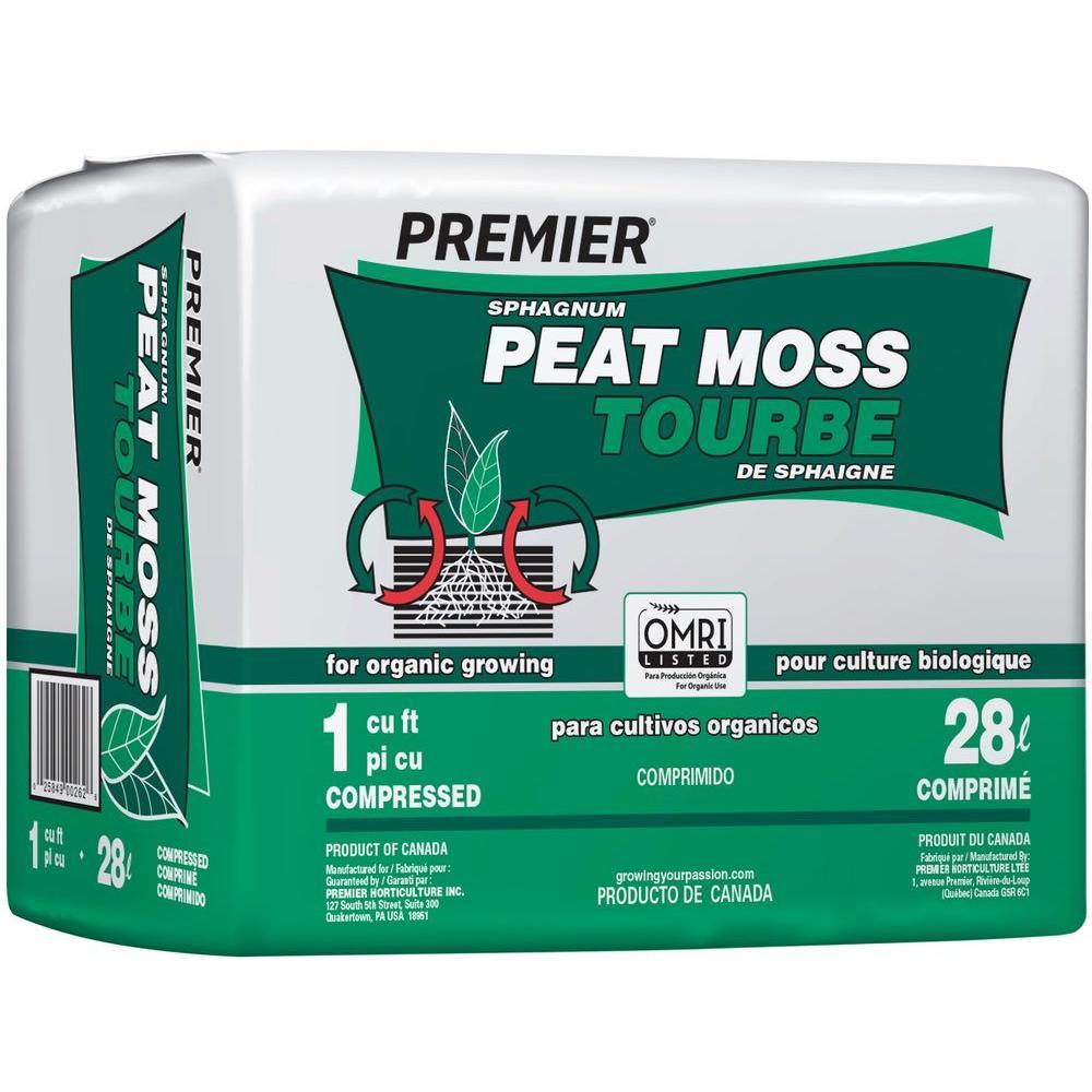 Premier 1 Cu Ft Peat Moss 0262 The Home Depot