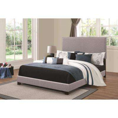 Explicitly Crisp Gray Upholstered Cal King Bed