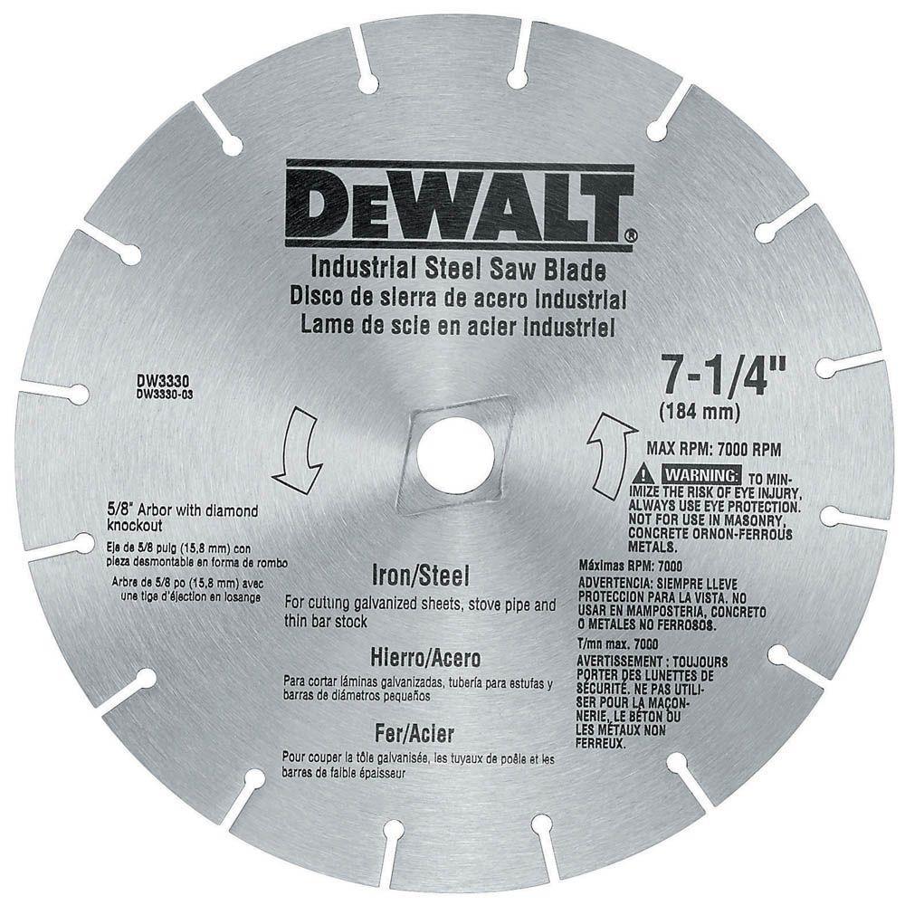 Dewalt 7-1/4 inch Iron/Steel Saw Blade by DEWALT
