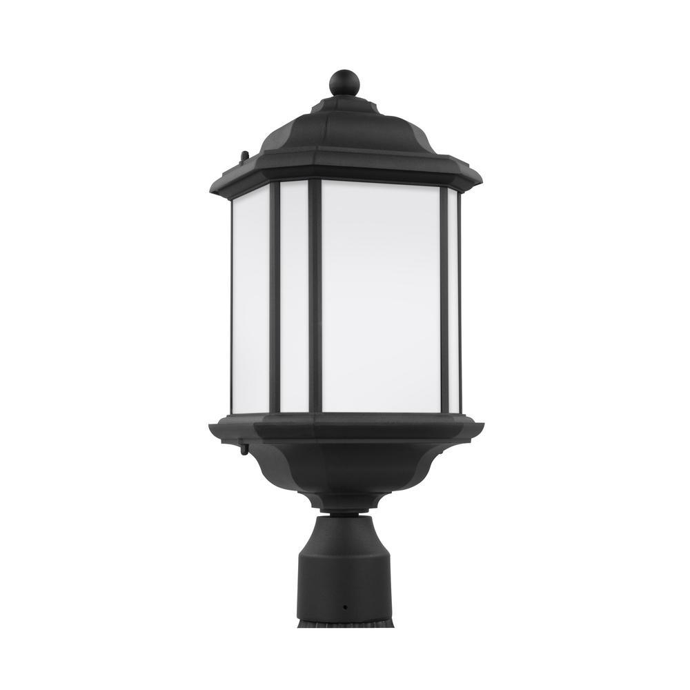 Kent 1-Light Outdoor Black Post Light with LED Bulb