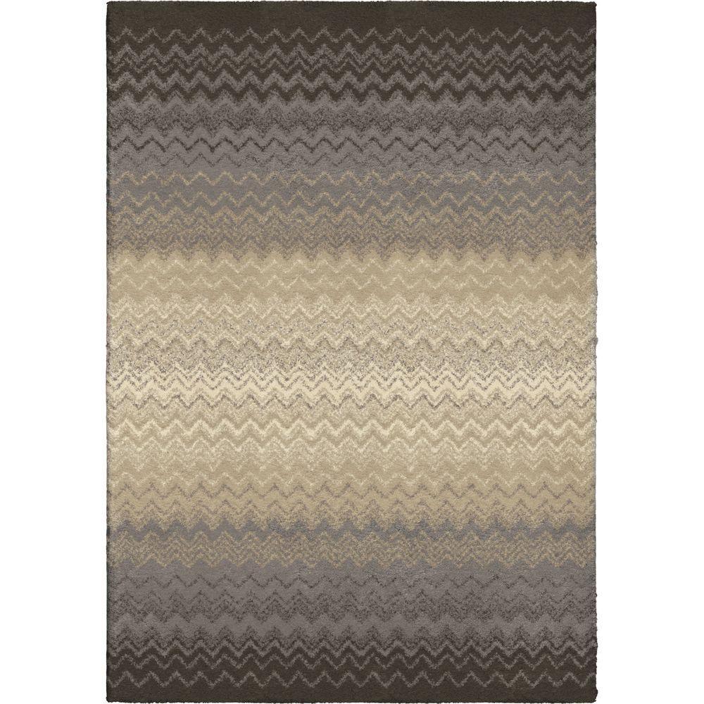 Orian Rugs Waving Chevron Gray 7 Ft. 10 In. X 10 Ft. 10 In
