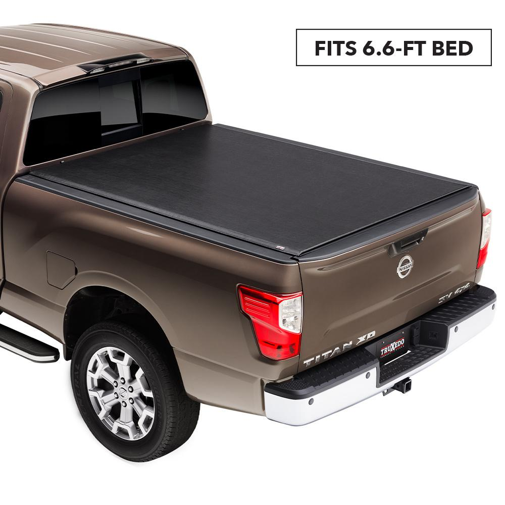 Truxedo Lo Pro Tonneau Cover 16 19 Nissan Titan Xd 6 Ft 6 In Bed With Or Without Utili Track System 588801 The Home Depot