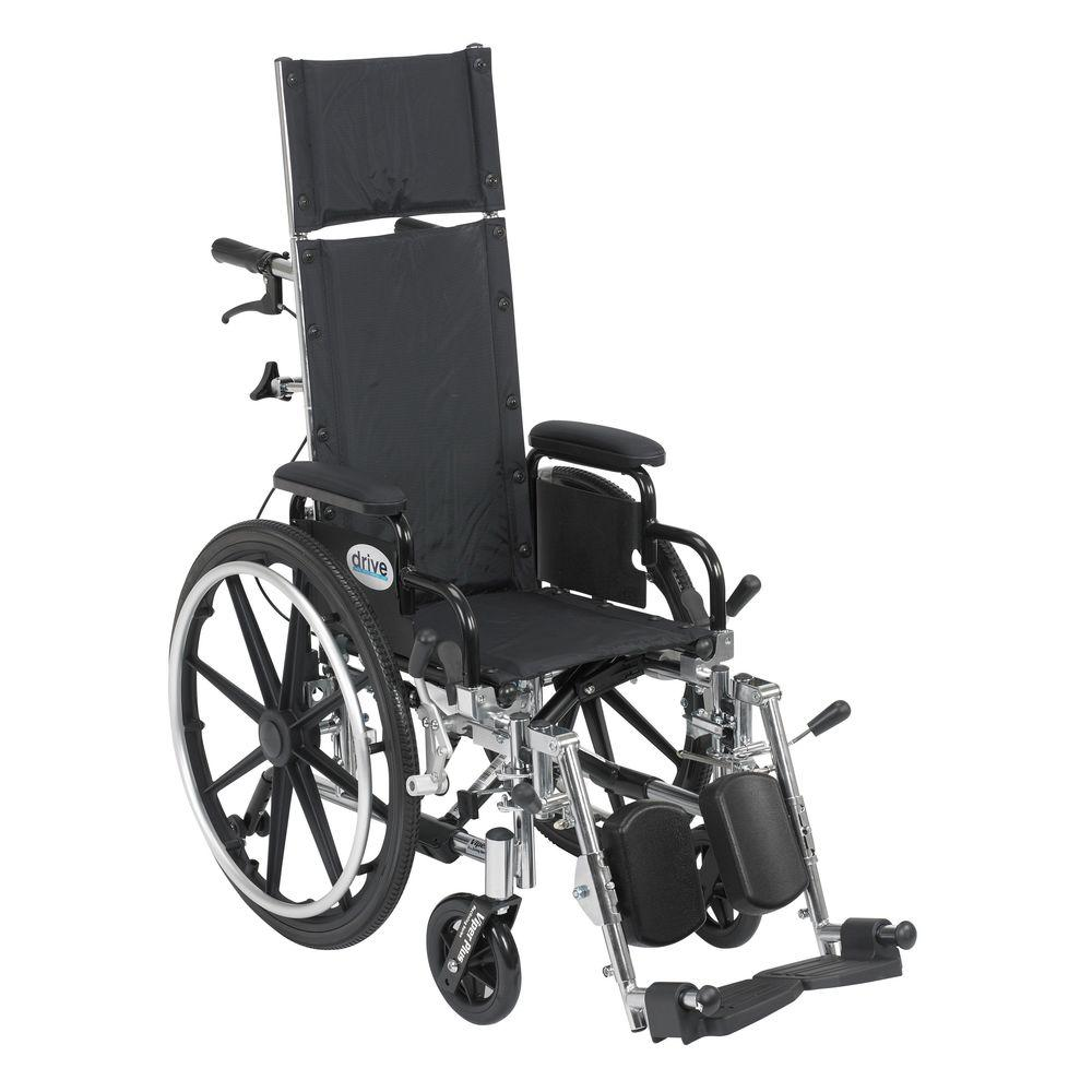 Drive Viper Plus Light Weight Reclining Wheelchair with E...