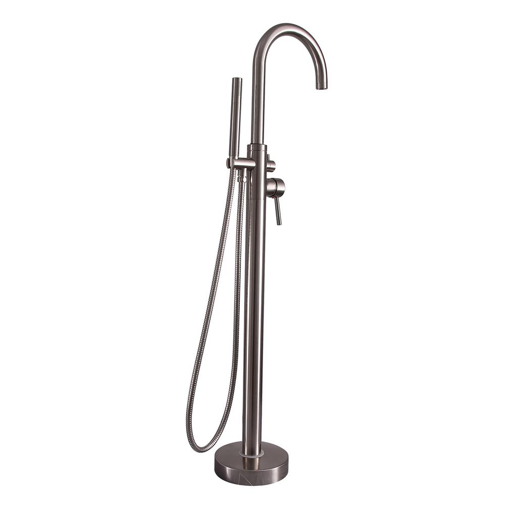 Barclay Products 2 Handle Freestanding Claw Foot Tub Faucet With