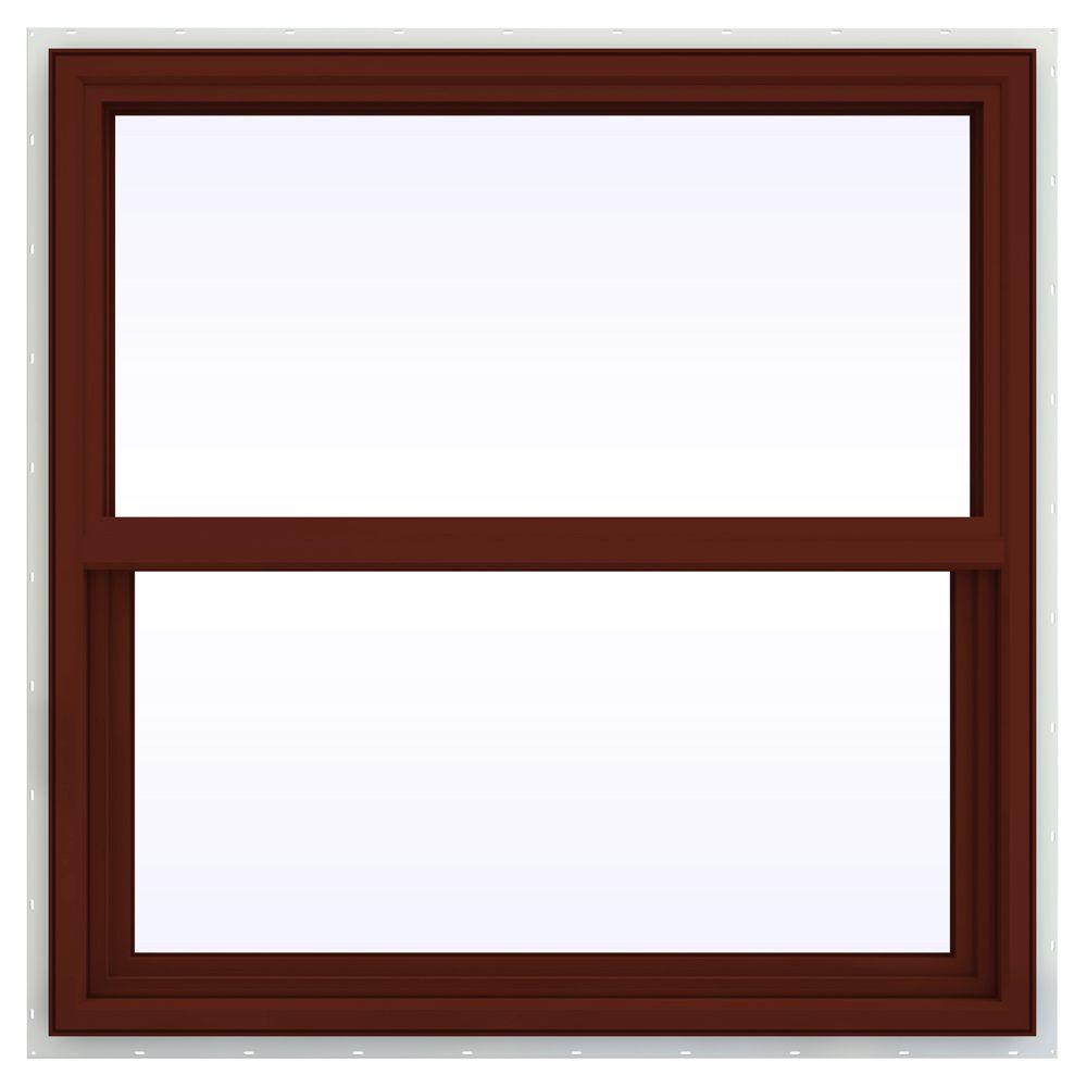 35.5 in. x 35.5 in. V-4500 Series Single Hung Vinyl Window