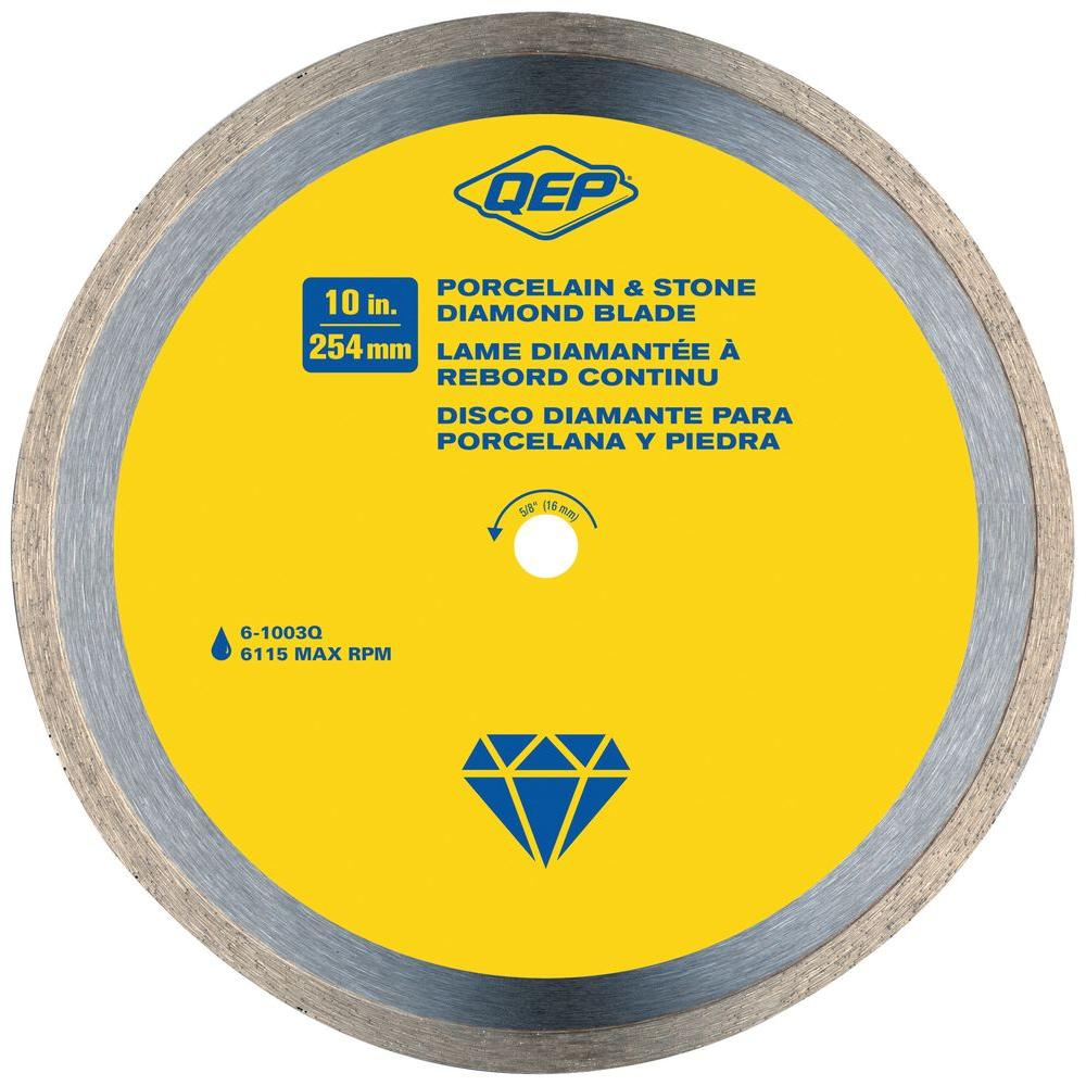 10 in. Premium Diamond Blade for Wet Cutting Porcelain and Ceramic