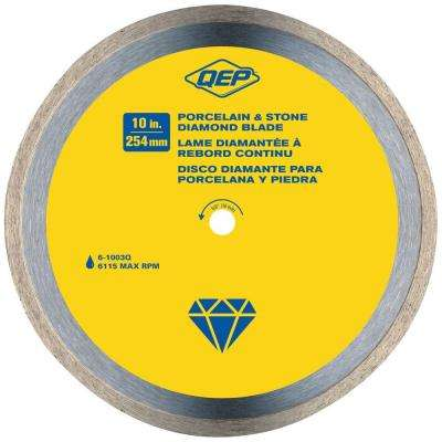 10 in. Premium Diamond Blade for Wet Cutting Porcelain and Ceramic Tile