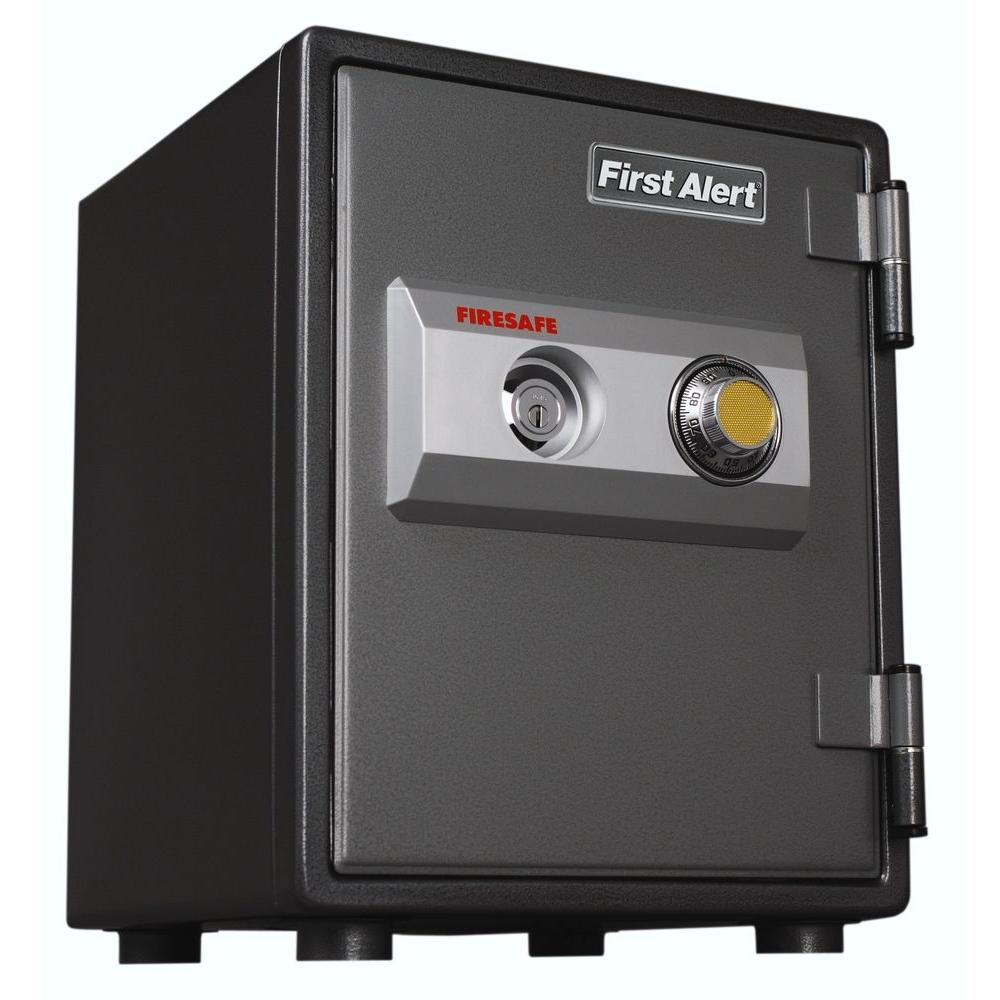 First Alert 0.80 cu. ft. Capacity and Solid Steel Fire Resistant Safe