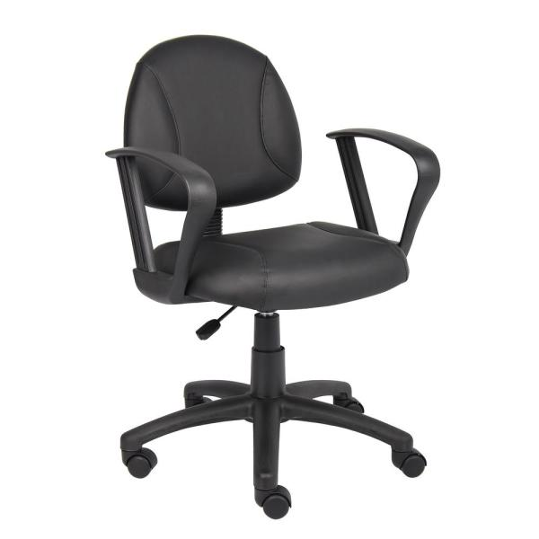 Boss Black Posture Chair with Loop Arms B307