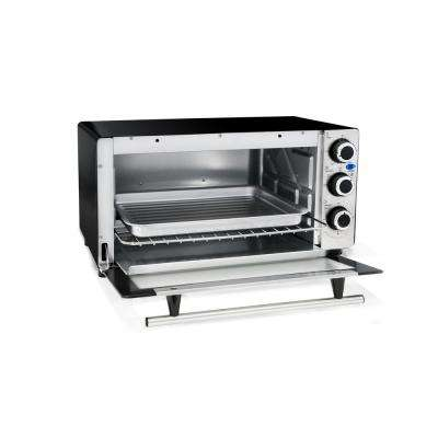 6 Slice Stainless Steel Countertop 4 Functions Convection Toaster Oven