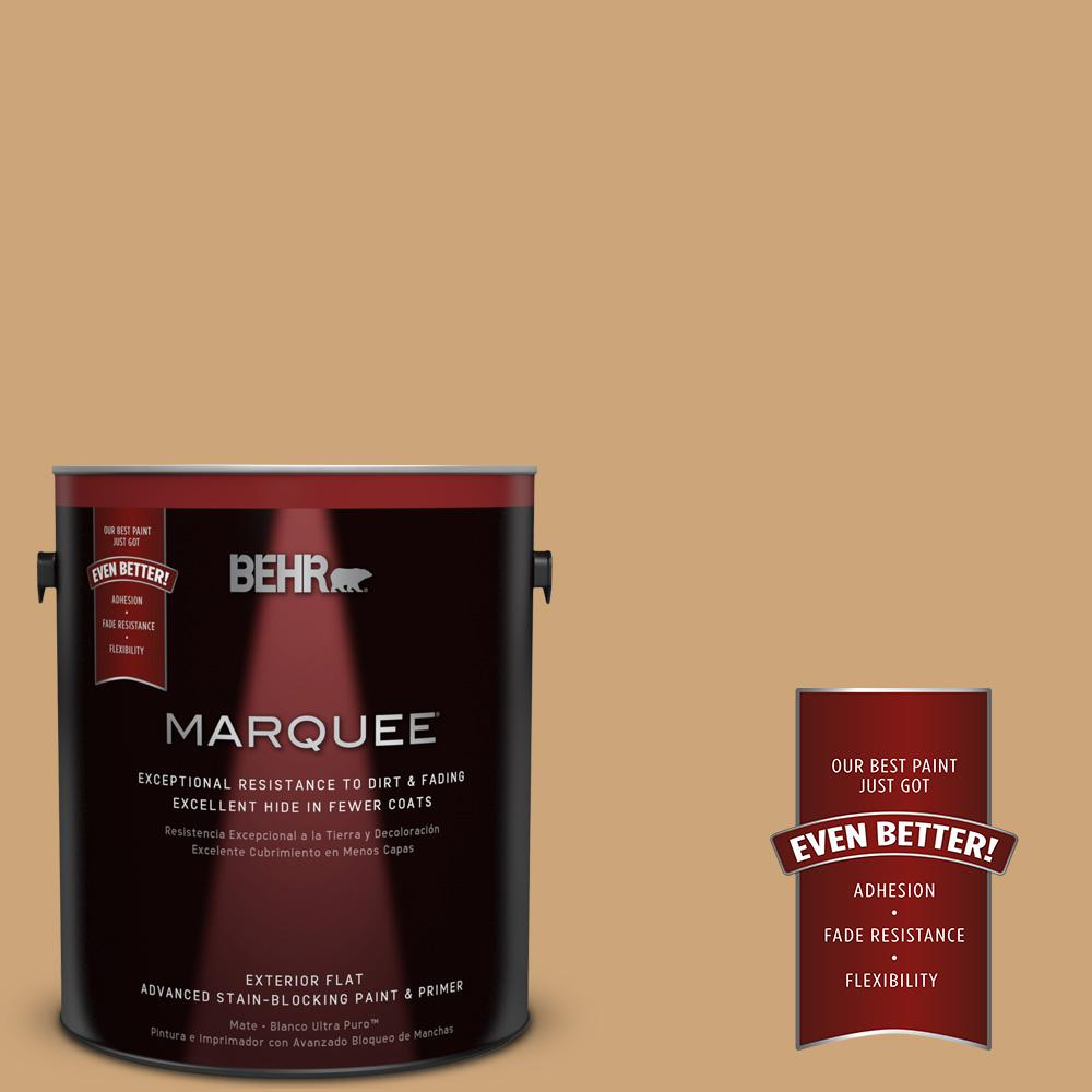 Home Decorators Collection 1-gal. #HDC-AC-13 Butter Nut Flat Exterior Paint