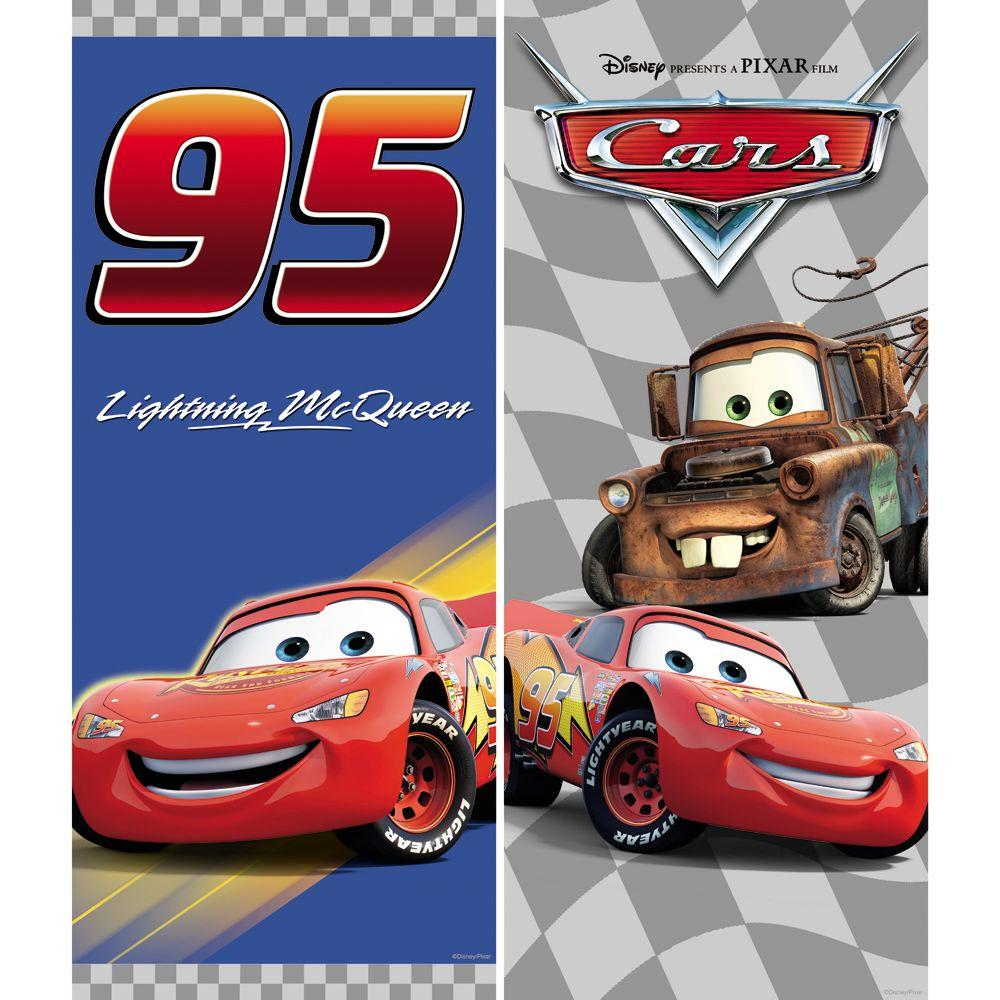 Disney 23 in. x 9-3/4 in. Brightly Colored Cars Victory Lane Wall Decal (2-Piece)-DISCONTINUED