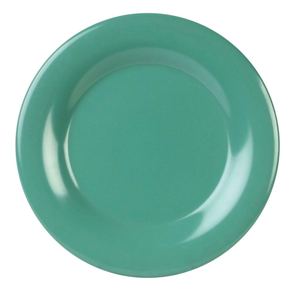 Restaurant Essentials Coleur 11-3/4 in. Wide Rim Plate in Green (12-Piece)