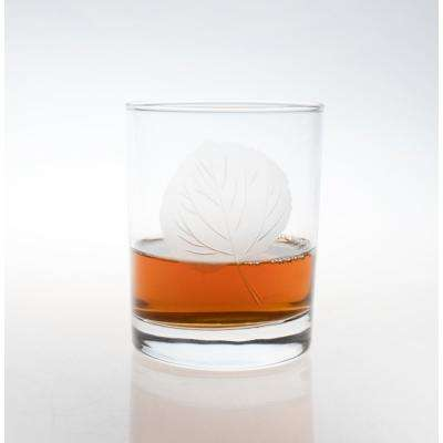 Aspen Leaf 14 oz. Clear Double Old-Fashioned (Set of 4)