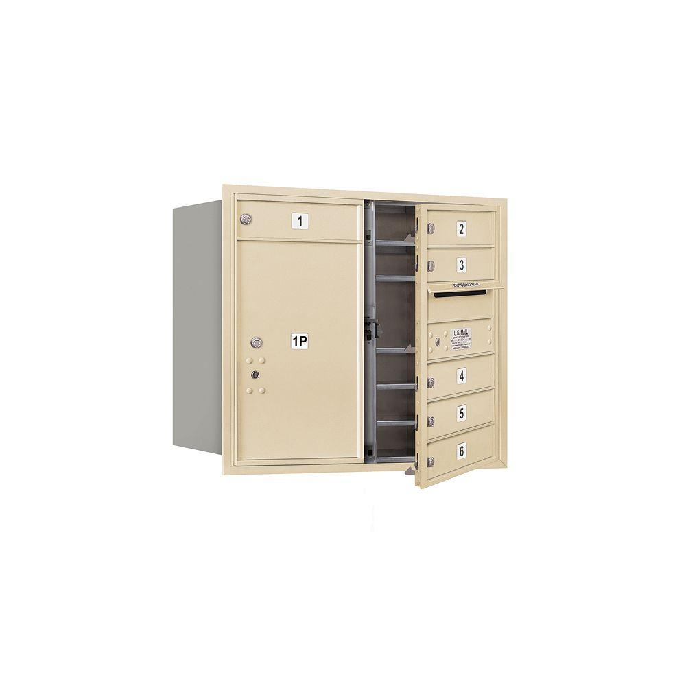 3700 Series 27 in. 7 Door High Unit Sandstone Private Front