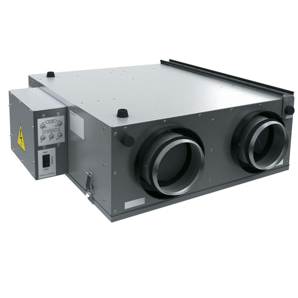 162 CFM Whole-House Heat Recovery Ventilator Unit - 5 in. Round