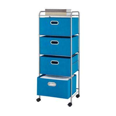 4 Drawer Cart in Blue