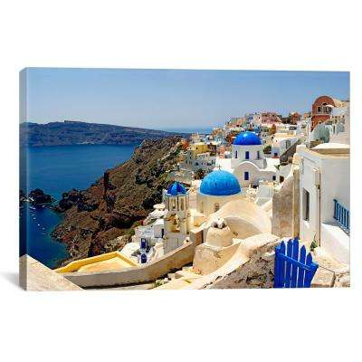 """""""High angle view of a church, Greece"""" by Panoramic Images Canvas Wall Art"""