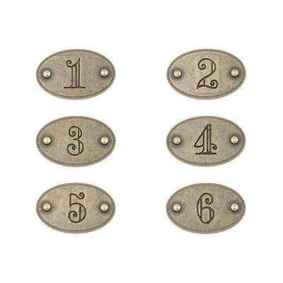 1 3 4 in  Antique Brass Drawer Number. Sumner Street Home Hardware   Furniture Accessories   Replacement