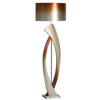 60 in. Modern Swerve Brushed Aluminum Floor Lamp