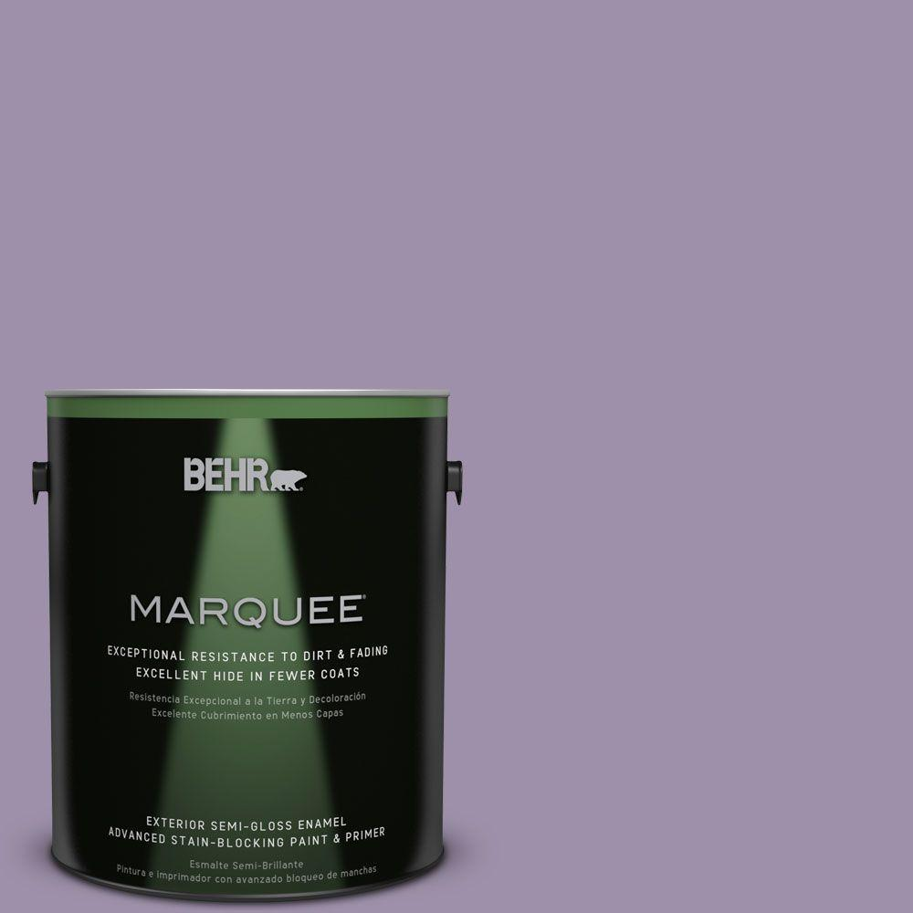 1-gal. #S100-4 Ancestry Violet Semi-Gloss Enamel Exterior Paint