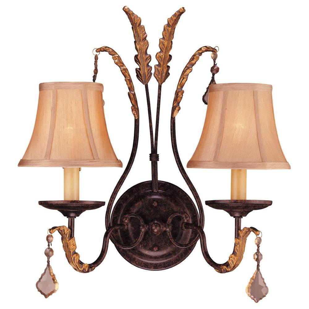 Hampton Bay 2-Light Bavarian Bronze Wall Sconce-DISCONTINUED