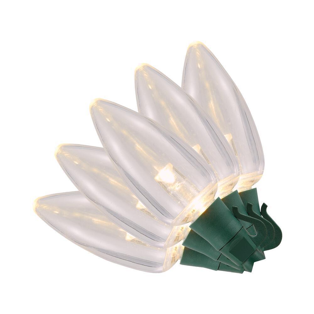 100- Light C9 Transparent Warm White Ultra Bright LED String Light