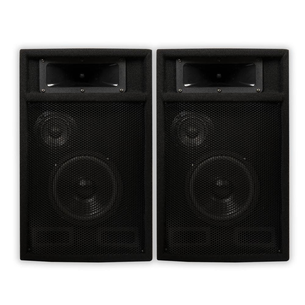 Passive 6.5 in. DJ PA Karaoke 3-Way Studio Speakers, Black These Acoustic Audio passive speakers are designed for use in both professional audio and home audio entertainment applications. They are the perfect complement to any PA system, studio monitor, home theater system or other audio application requiring powerful and professional grade sound quality. These speakers are perfect for PA, musicians, DJ's, rental companies and many fixed installations including houses of worship, theaters, music halls, meeting rooms, amusement parks, hotels, stadiums, nightclubs and auditoriums. Color: Black.