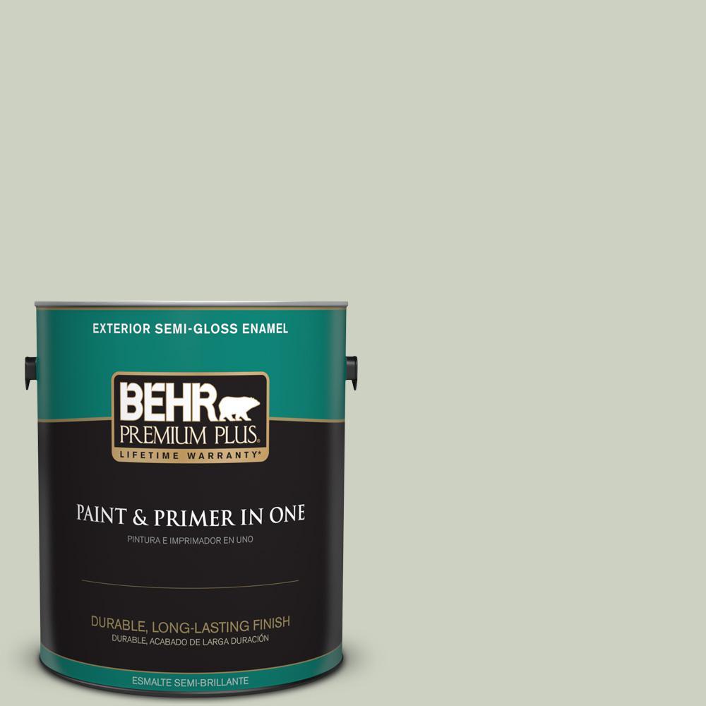 1 gal. #PPU10-11 Sliced Cucumber Semi-Gloss Enamel Exterior Paint