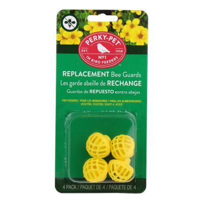 Replacement Yellow Bee Guards for Hummingbird Feeders (4-Count)