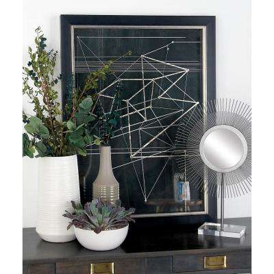 """31 in. x 23 in. """"Triangles and Lines"""" Printed Framed Wall Art"""
