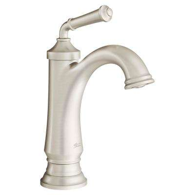 Delancey Single Hole Single-Handle Bathroom Faucet with Pop-Up Drain in Brushed Nickel