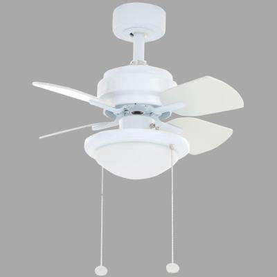 Metarie 24 in. Indoor White Ceiling Fan with Light Kit