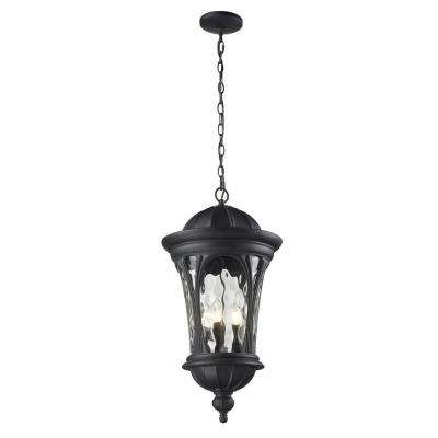 Lawrence 5-Light Outdoor Black Incandescent Hanging Pendant